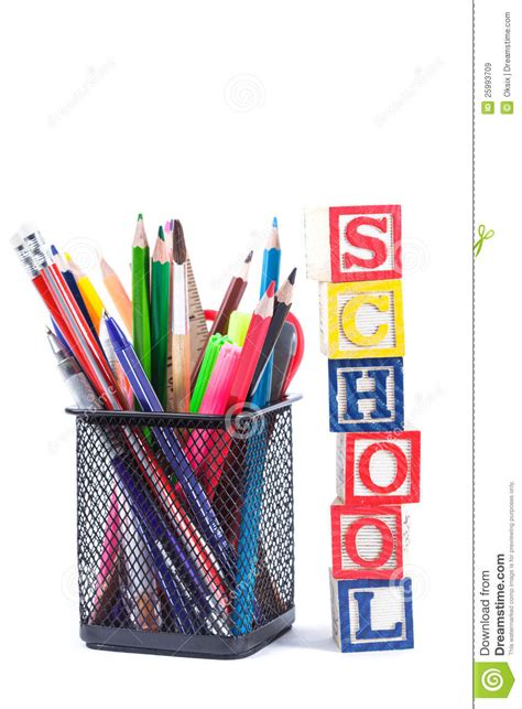 for school stationary for school royalty free stock images image