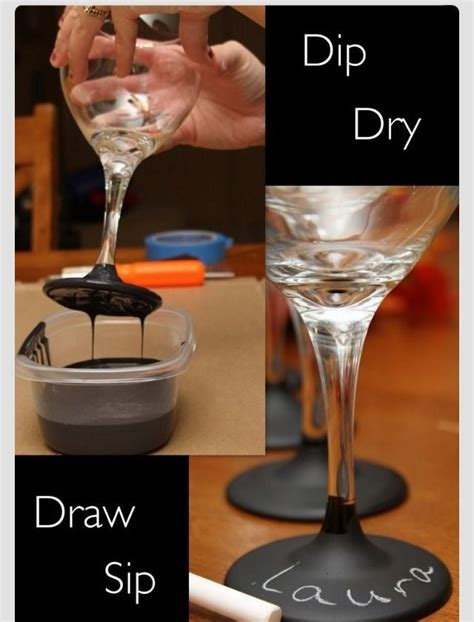 diy chalk paint wine glasses diy chalk wine glass we need this with our mexican