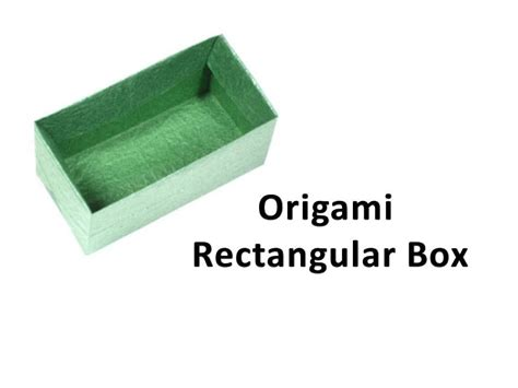 origami box with rectangular paper how to make an origami rectangular box funnycat tv