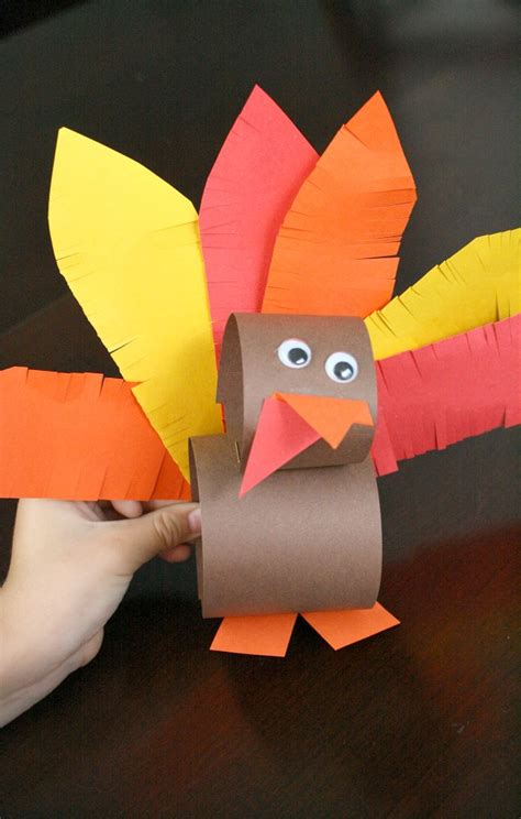 thanksgiving paper crafts for paper roll thanksgiving turkey craft fantastic