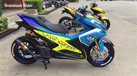 Modifikasi Motor Yamaha by Koleksi Modifikasi Motor Yamaha Aerox Terbaru Modifikasi
