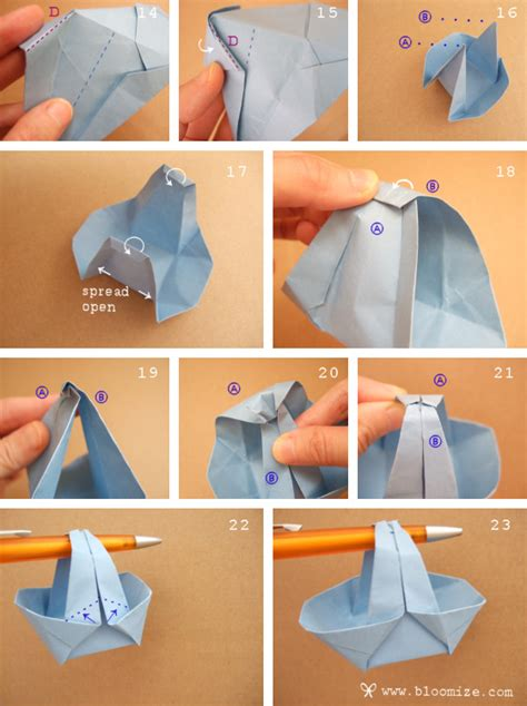 origami basket a wider origami basket bloomize