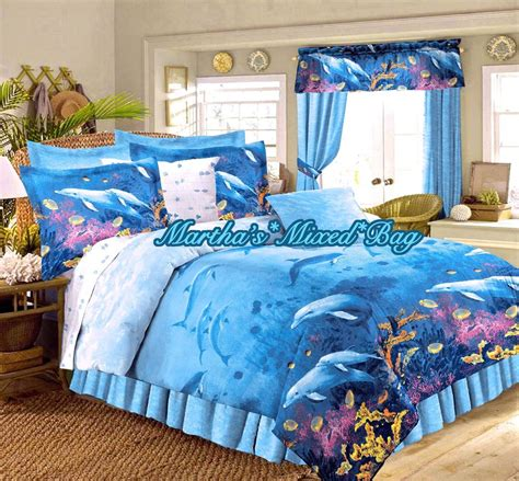 tropical comforters sets dolphin bedding tropical all sizes nautical