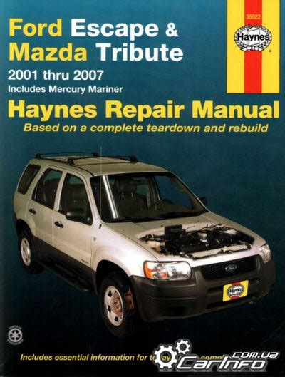 chilton car manuals free download 2011 mercury mariner parking system 03 2001 escape ford mazda tribute