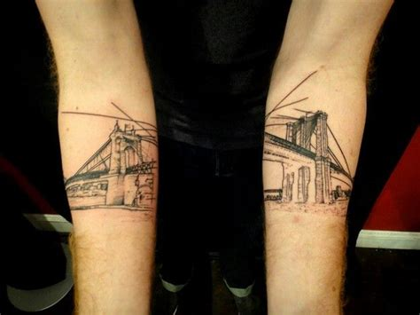 brooklyn bridge tattoo arm ink tattoos