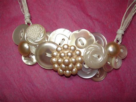 buttons for jewelry vintage button necklace button jewelry pearl buttons