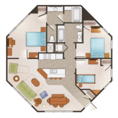saratoga springs treehouse villa floor plan treehouse villas at walt disney world s saratoga springs