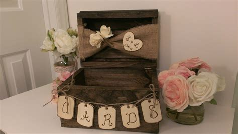 how to make wedding card boxes for reception personalized rustic card box burlap wedding reception card
