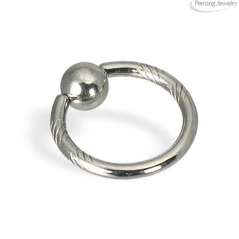 captive bead ring carved captive bead ring 14 ga nose piercing jewelry