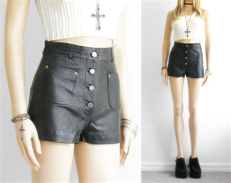 leather shorts leather shorts high waist shorts black leather shorts nappa