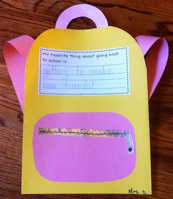 school crafts back to school lesson plans
