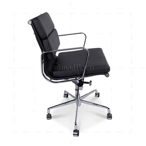 eames low chair ea217 eames style office chair low back soft pad black leather