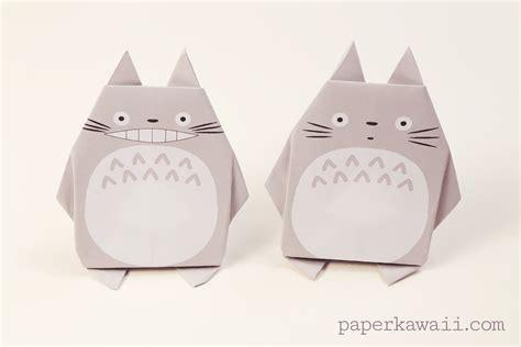 origami totoro origami totoro tutorial free printable paper paper kawaii