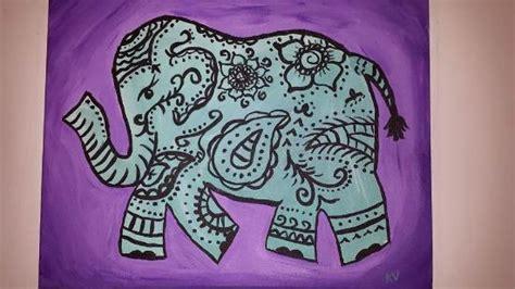 paint with a twist elephant paisley elephant