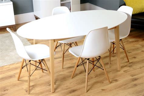 White Oval Dining Table Uk by Hackney White Oak Mid Century Oval Dining Table I Retro