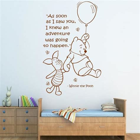 classic winnie the pooh wall decals for nursery wall quote winnie the pooh wall sticker boys