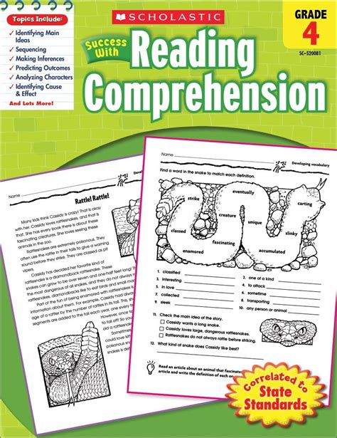 scholastic success with reading comprehension grade 3 scholastic scholastic success with reading comprehension