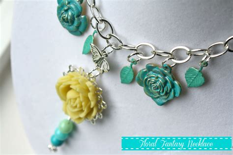 crafts jewelry floral necklace with martha stewart jewelry