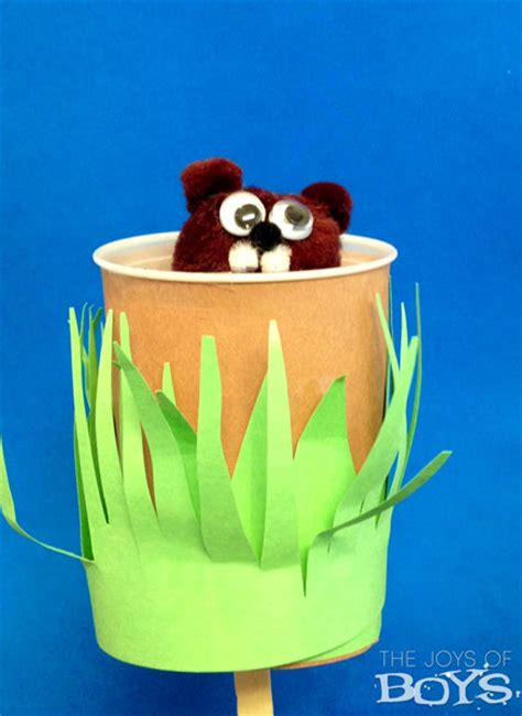 groundhog day crafts for groundhog day craft the joys of boys