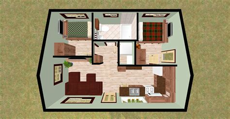 two bedroom house designs cozyhomeplans 432 sq ft small house quot firefly quot 3d top