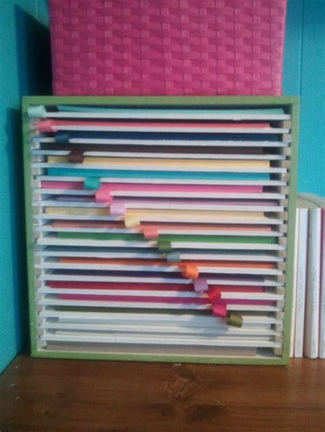 craft paper storage ideas 25 best ideas about scrapbook paper storage on