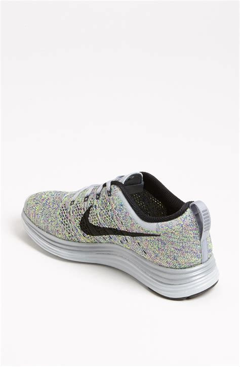 fly knit shoes nike flyknit lunar1 running shoe in multicolor wolf grey