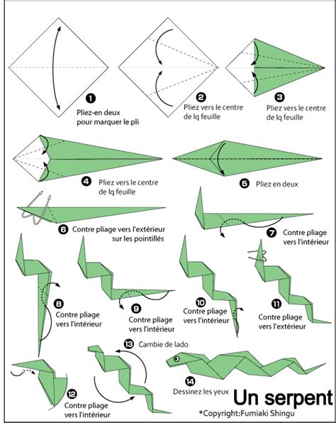 how to make an origami snake serpent