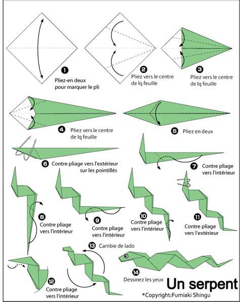 easy origami snake serpent