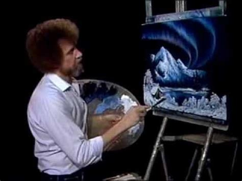 bob ross painting northern lights pin by on the of