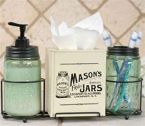 country bathroom accessories country primitive jar caddy bathroom set soap