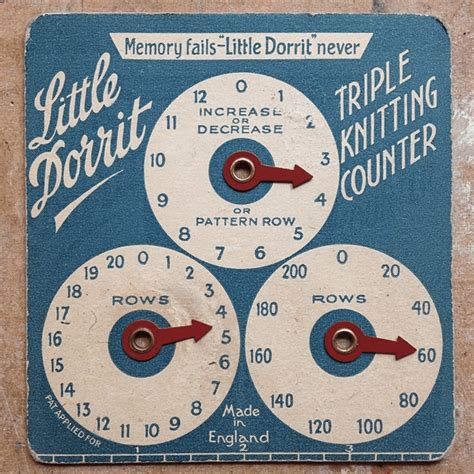 row counter knitting vintage quot dorrit quot knitting row counter make
