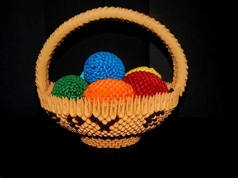 3d origami basket tutorial 1000 images about my 3d origami collection on