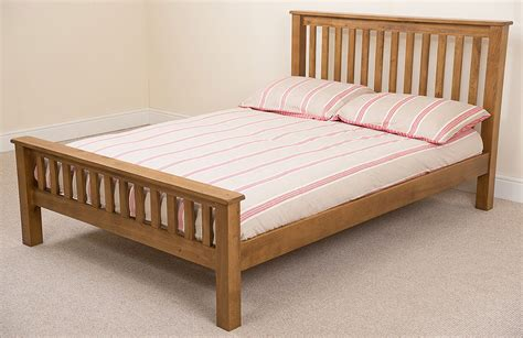 king size oak bed frame cotswold solid oak wood 5ft kingsize bed frame wooden