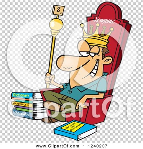 scrabble king clipart of a caucasian scrabble king sitting on his throne