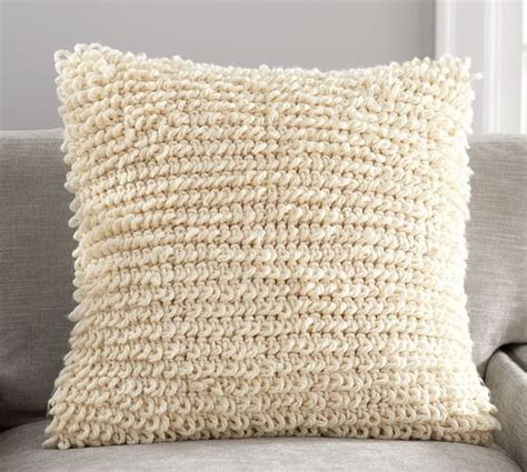 how to knit a pillow loopy knit pillow cover pottery barn