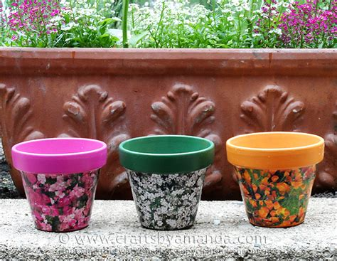 decoupage clay pots ideas check out seed packet decoupage clay pots it s so easy to