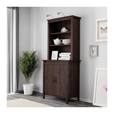 brusali cabinet brusali high cabinet with door brown 80x190 cm ikea
