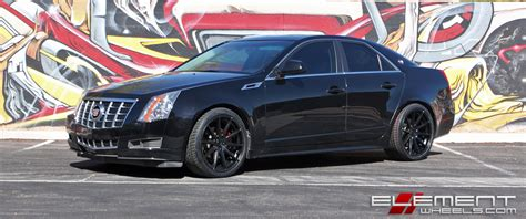 2012 Black Cadillac Cts by Cadillac Cts Wheels Custom And Tire Packages