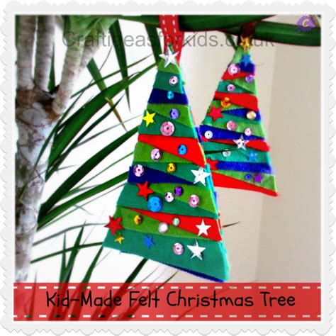 felt craft ideas for felt tree 10 days of kid made ornaments
