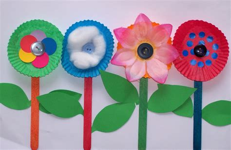 toddler craft projects row of flowers craft for craft n home