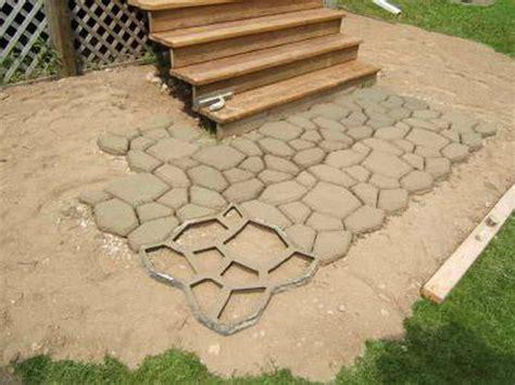 patio molds concrete pavers outdoor great diy concrete pavers how to build diy