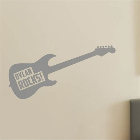 guitar wall stickers personalised guitar wall sticker for and childrens