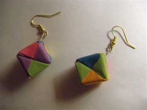 how to make origami jewelry how to make origami cube earrings
