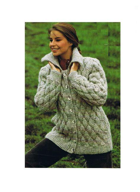 knitted coat patterns free uk knitting pattern chunky jacket cardigan coat