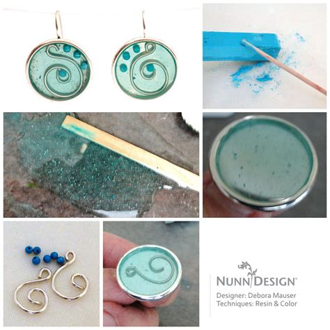 how to make resin jewelry debora mauser featured on jewelry daily nunn design