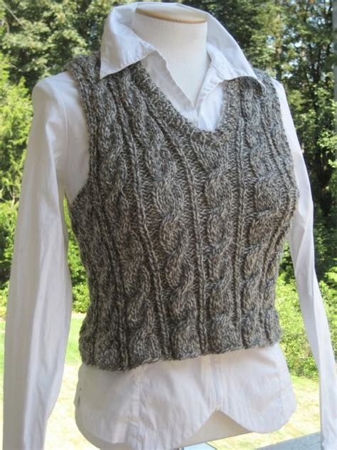 Unisex Cable Vest By Lisaellisdesign Knitting Pattern