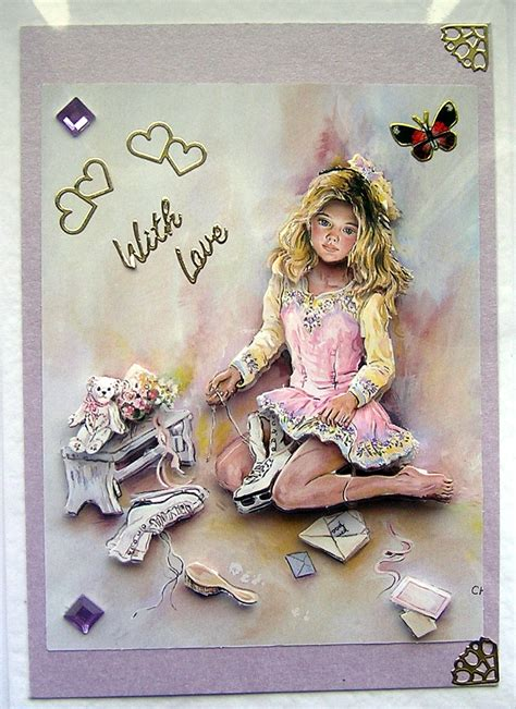 3d decoupage dreams crafted 3d decoupage card with
