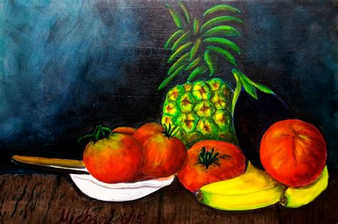 acrylic painting vegetables michael arnold quot summer fruits and vegetables quot 2015