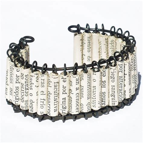 paper bead bracelets paper bead jewelry upcycled paper bead bracelet