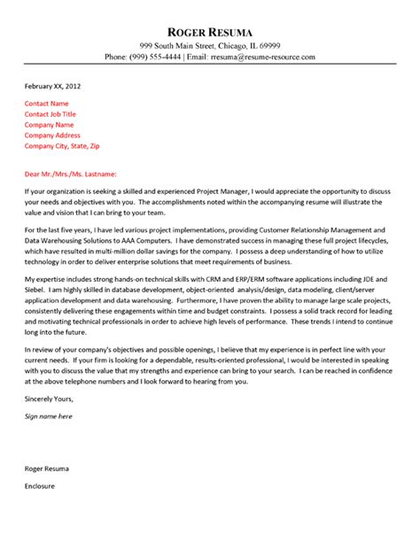 inspirational cover letter for information technology